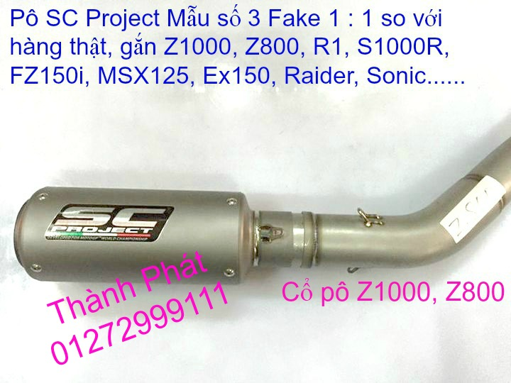Po do Po kieu Co po 7 khuc AHM Akrapovic Yoshimura SC Project 2 Brother MIVV YYPANG Leov