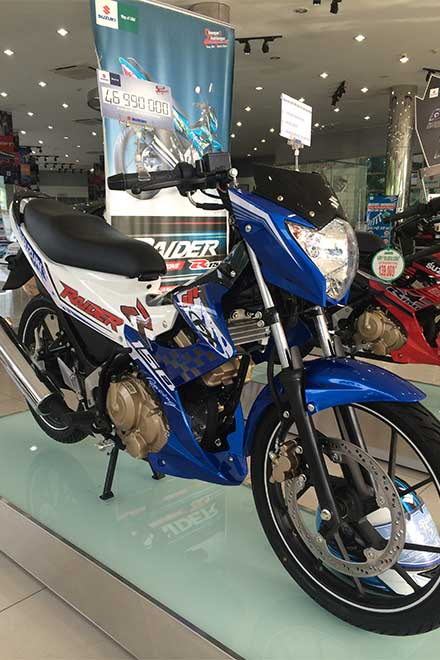 Suzuki Raider R150 la mat voi dan ao do tu dai ly chinh hang - 3