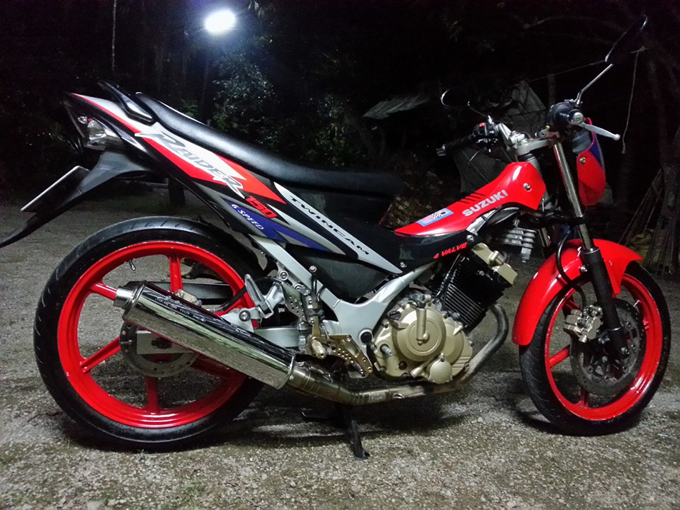 An tuong con suzuki raider doi cu dat max speed 157 kmh