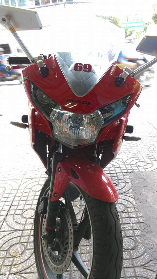 Can ban moto CBR 150i Thai Lan mau do - 3
