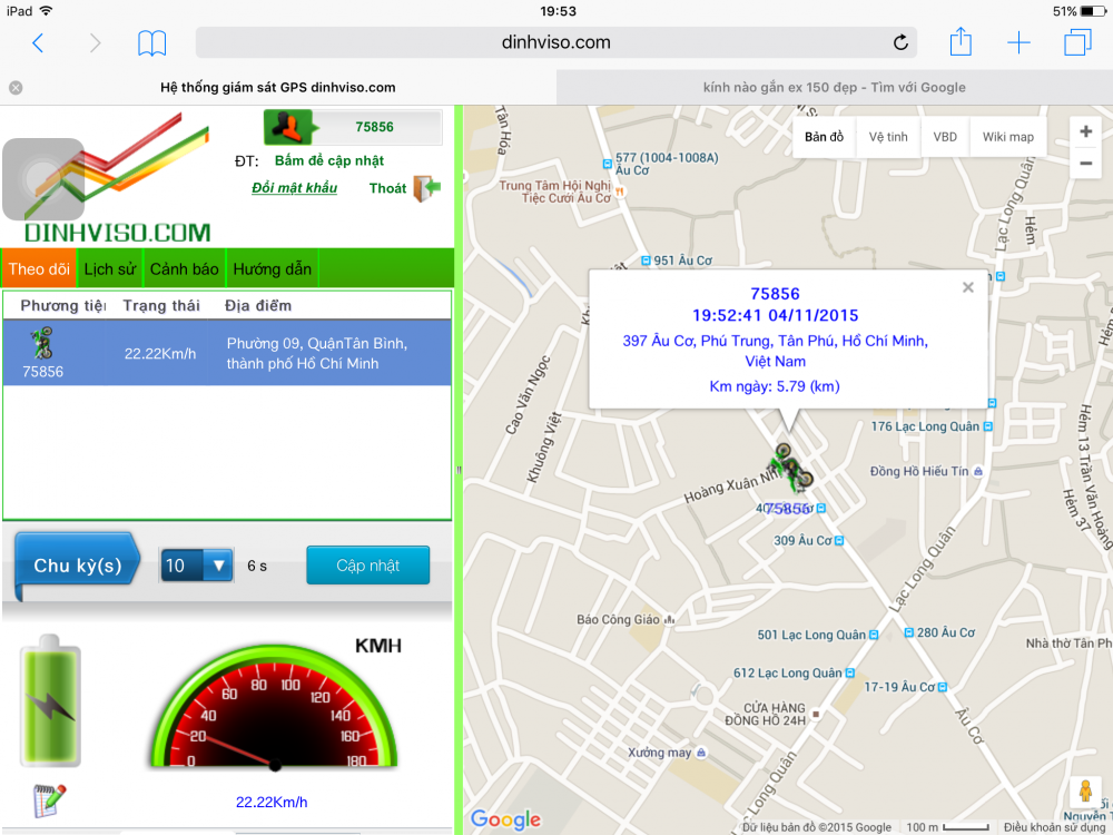 Dinh vi giam sat xe may GPS
