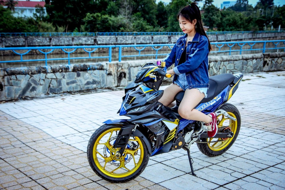 Exciter 135 che mu ham ho do dang canh nguoi dep - 3