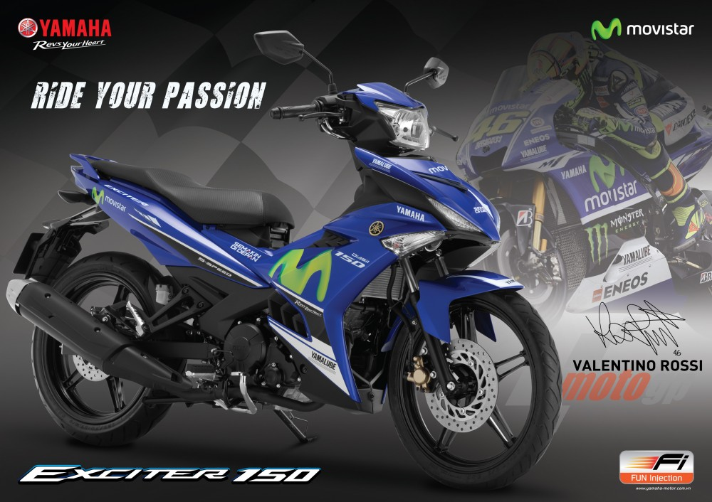 So sanh Exciter 150 Movistar 2016 voi Exciter GP 2015