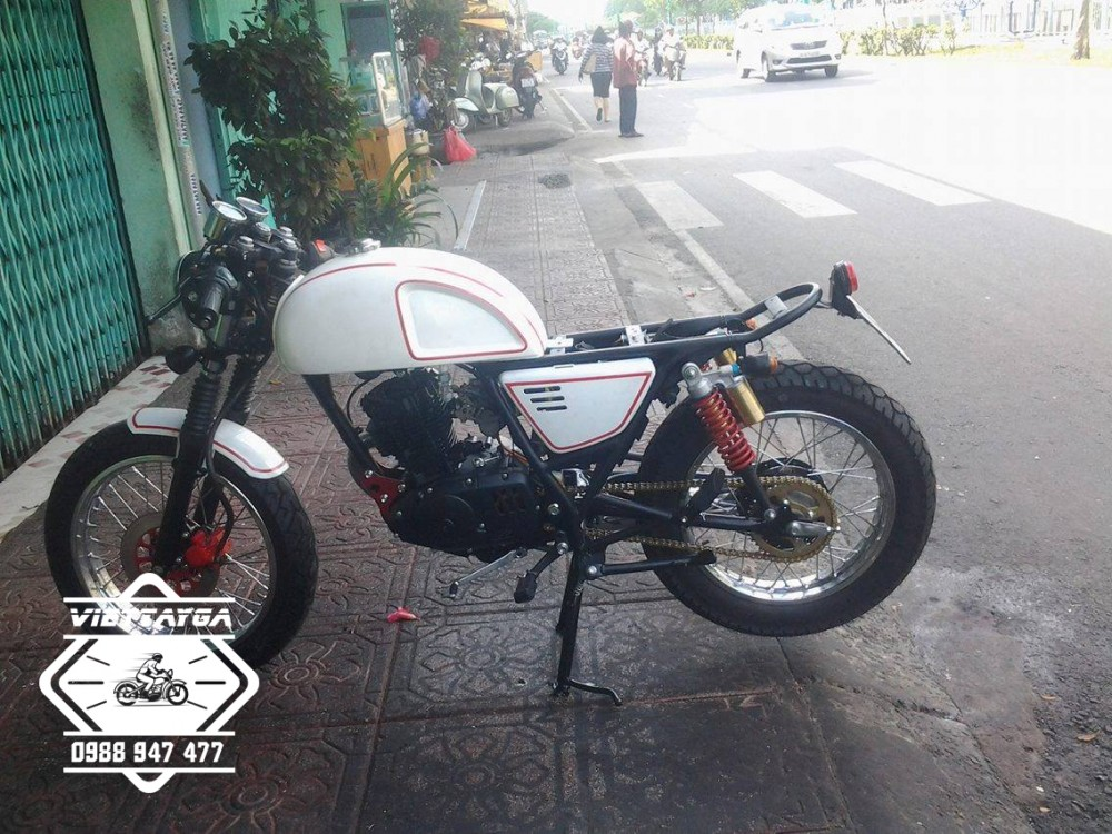 Su GN125 do Cafe racer Tu nam ra bac - 4