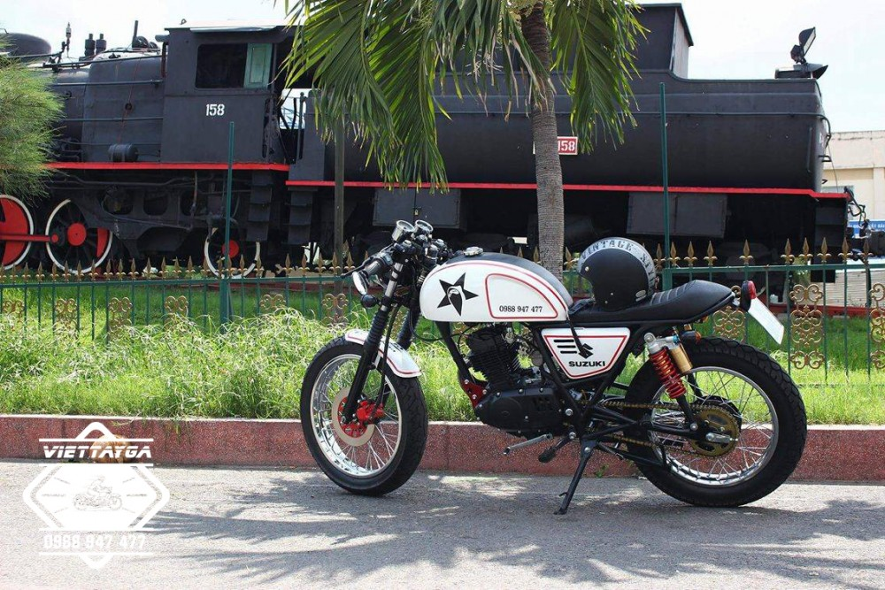 Su GN125 do Cafe racer Tu nam ra bac - 19