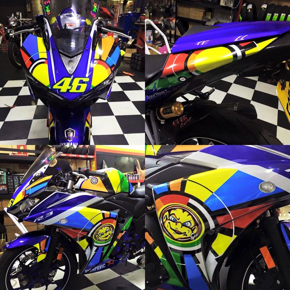 Yamaha R3 voi phong cach Valentino Rossi - 5