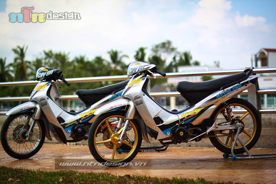Cap doi Wave nho don kieng style racing