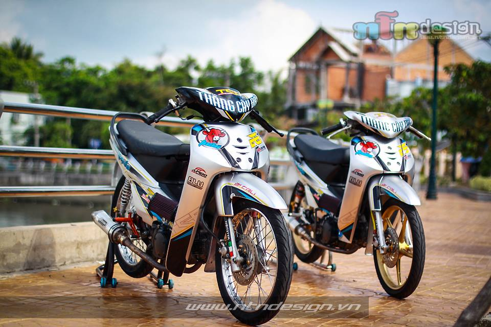 Cap doi Wave nho don kieng style racing - 3