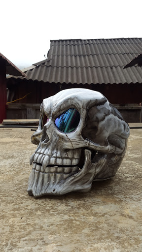 Helmet skull design by airbrushviet nam - 5