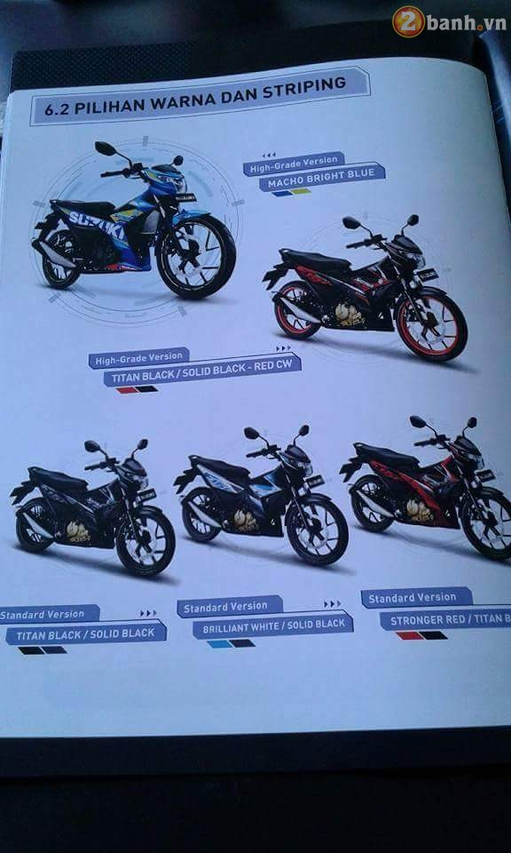 Lo thong tin cu the cua Suzuki Satria F150 Fi 2016 moi tren Catalog - 15