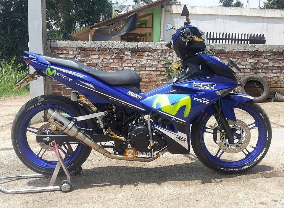 Mot chiec Exciter 150 Movistar do nhe chat lu den tu nuoc ban - 6