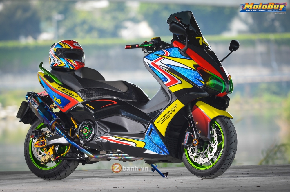 Yamaha TMax do day sang chanh voi phien ban Rainbow