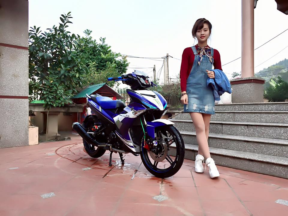 Exciter 150 do nhe so dang Girl xinh ngay tet - 2