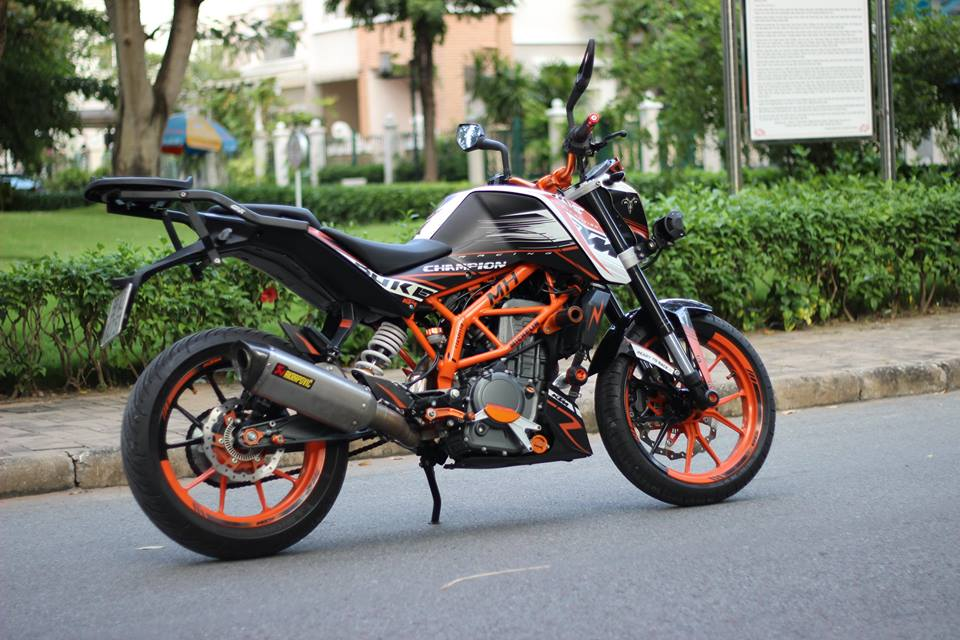 KTM 390 DUKE ABS do Po Akrapovic titanium kem KN USA cung hang ta phu kien - 2