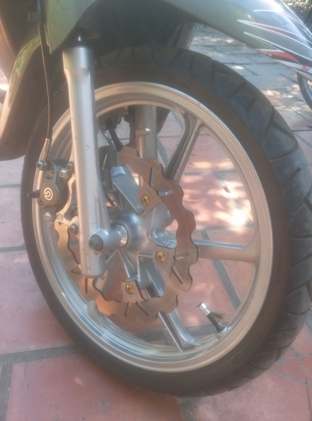 Xa heo combo heo brembo titan like new va bac Dia Galfer 275mm like new va 220mm - 2