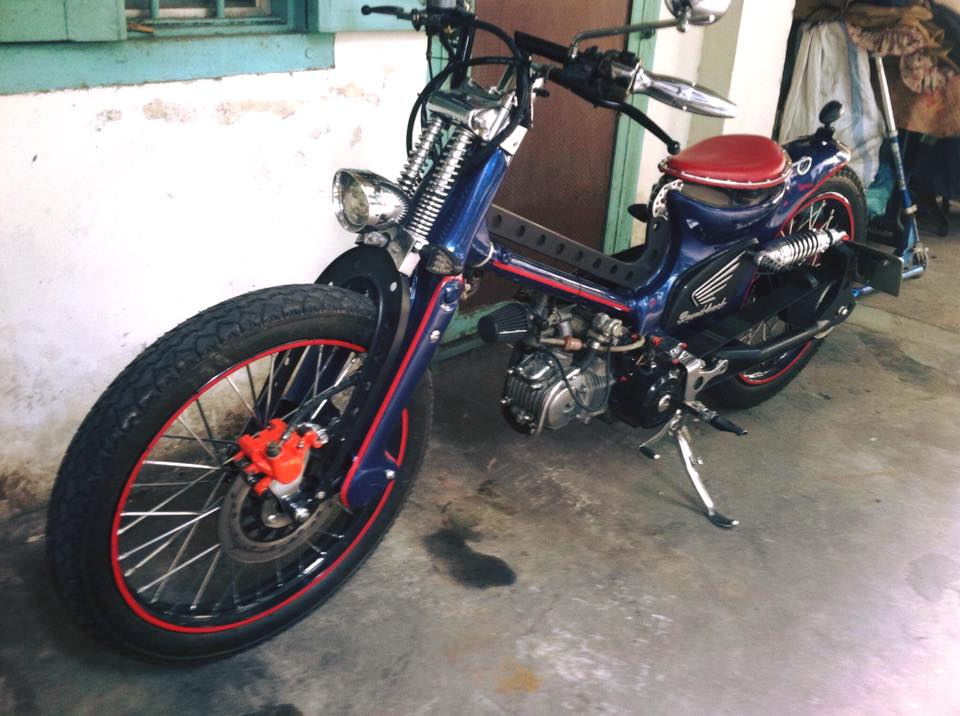 Can canh sieu Cub do bobber full 125cc - 5