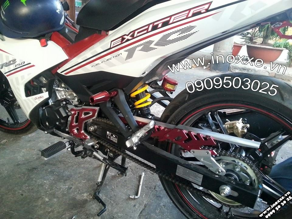 Do choi Exciter 150 Tang sen tu dong Racing Boy Sen vang DID - 2