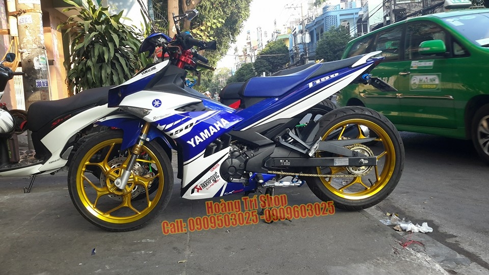 Exciter 150 choi phong cach Yamaha X1R chat - 4