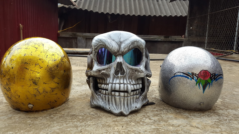 Helmet skull design by airbrushviet nam - 4