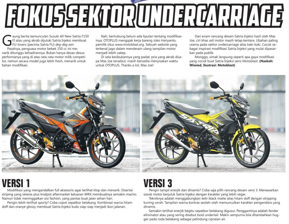 Mot so version do cua Suzuki Satria F150 FI 2016 - 2