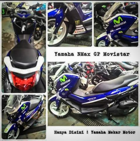 Lo anh Yamaha NMax 155 2016 voi phien ban Monster va Movistar - 2