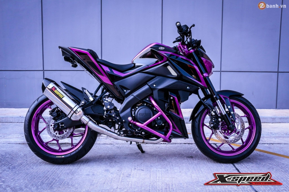 Yamaha MSlaz day an tuong voi bo canh tim Chrome - 8