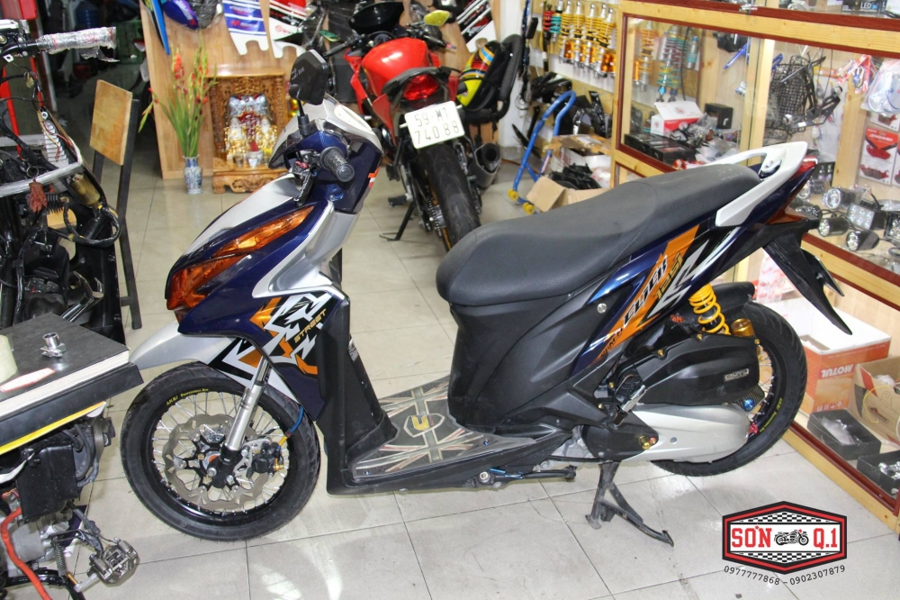 Honda Click 125i do don gian nhung day chat choi - 2