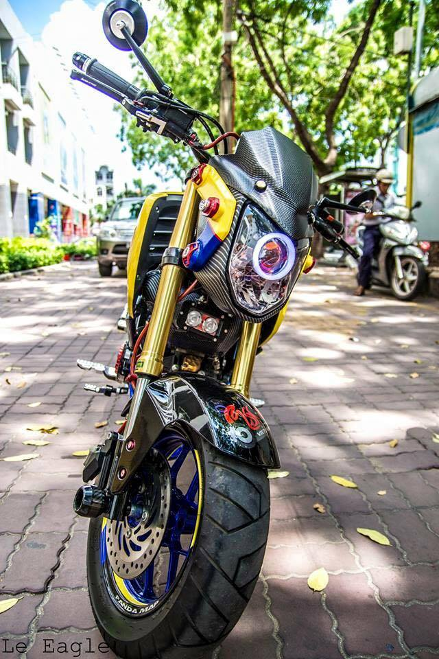 Honda MSX son Air Brush noi bat cung nhieu phu kien do choi - 5