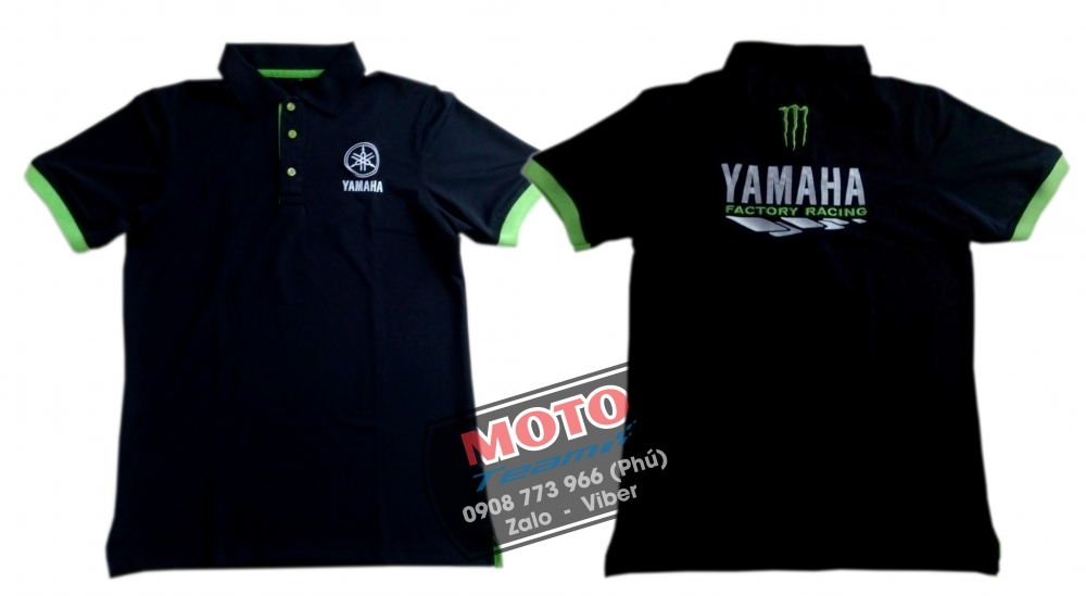 Ao thun polo moto Yamaha Monster - 2