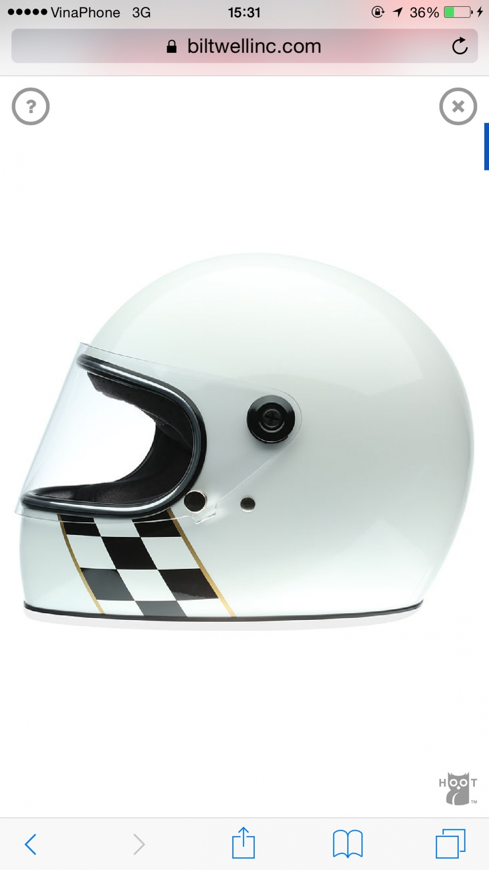BILTWELL GRINGO S WHITE CHECKER STRIPE - 3