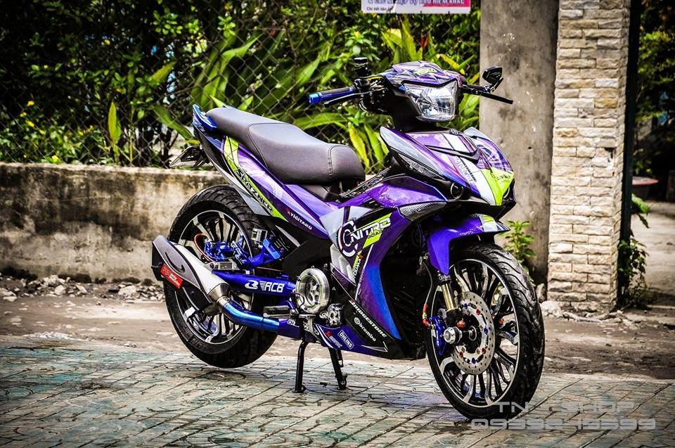 Exciter 150 do chat lu cua cac biker mien Tay - 12