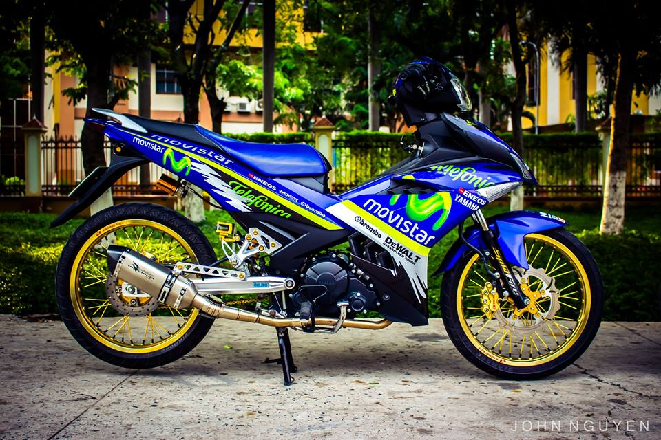 Exciter 150 do Drag phong cach Movistar 46 Edition - 5