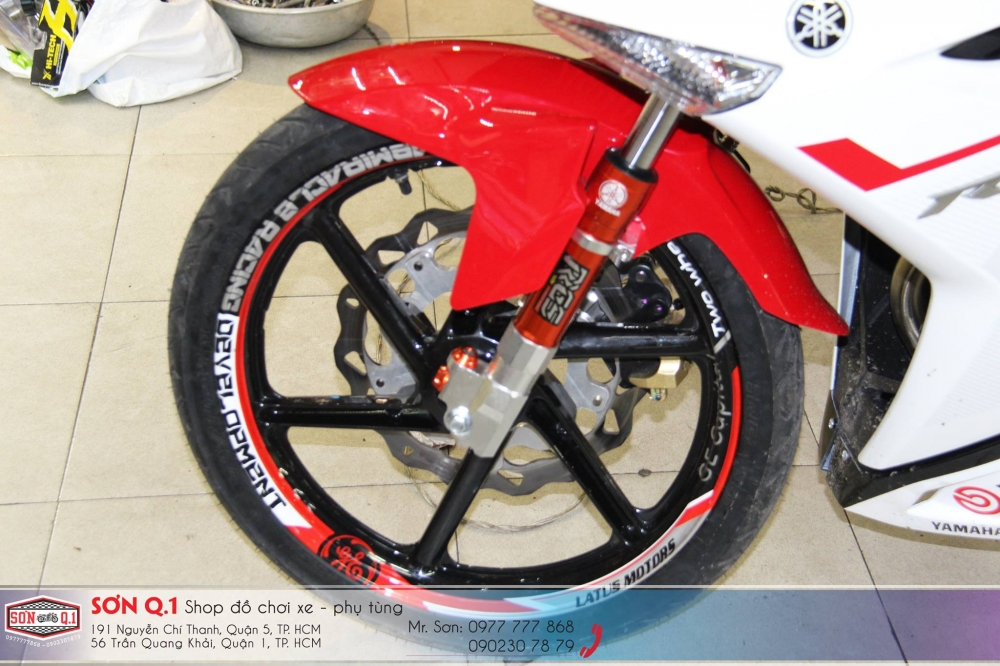 Exciter 150 do ham ho voi dan chan 1 gap cung cay sung Z1000 - 3