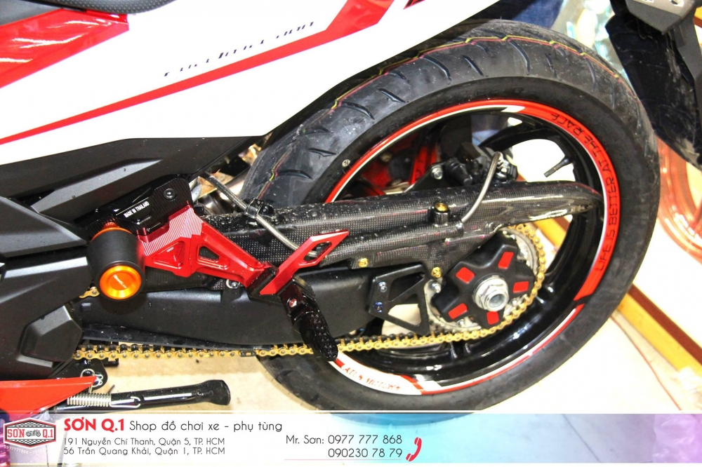 Exciter 150 do ham ho voi dan chan 1 gap cung cay sung Z1000 - 5