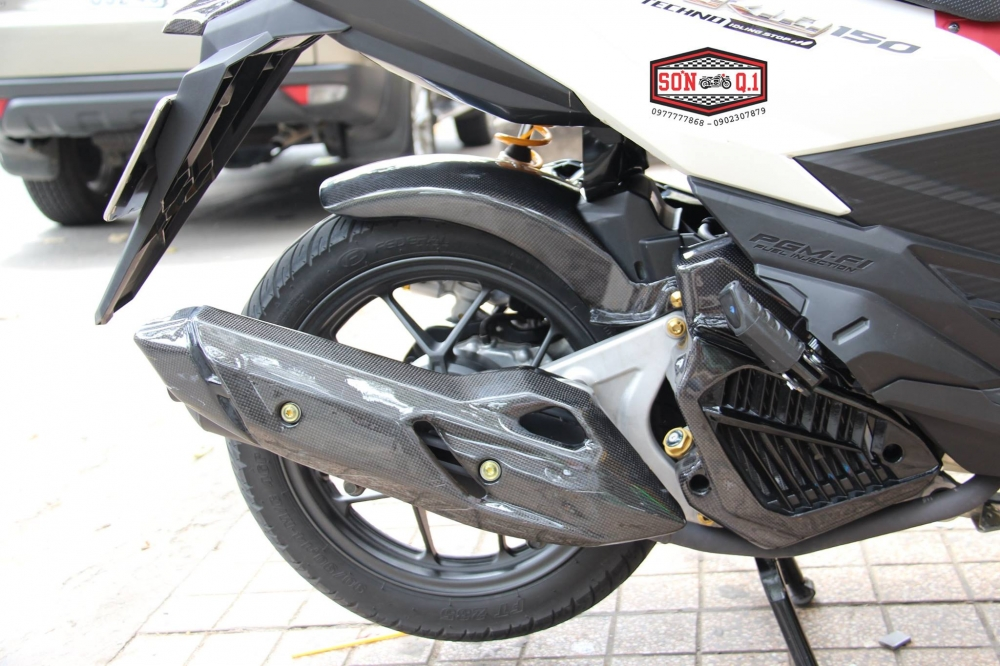 Honda Vario 2016 op Carbon Fiber cung dan option hang hieu - 3