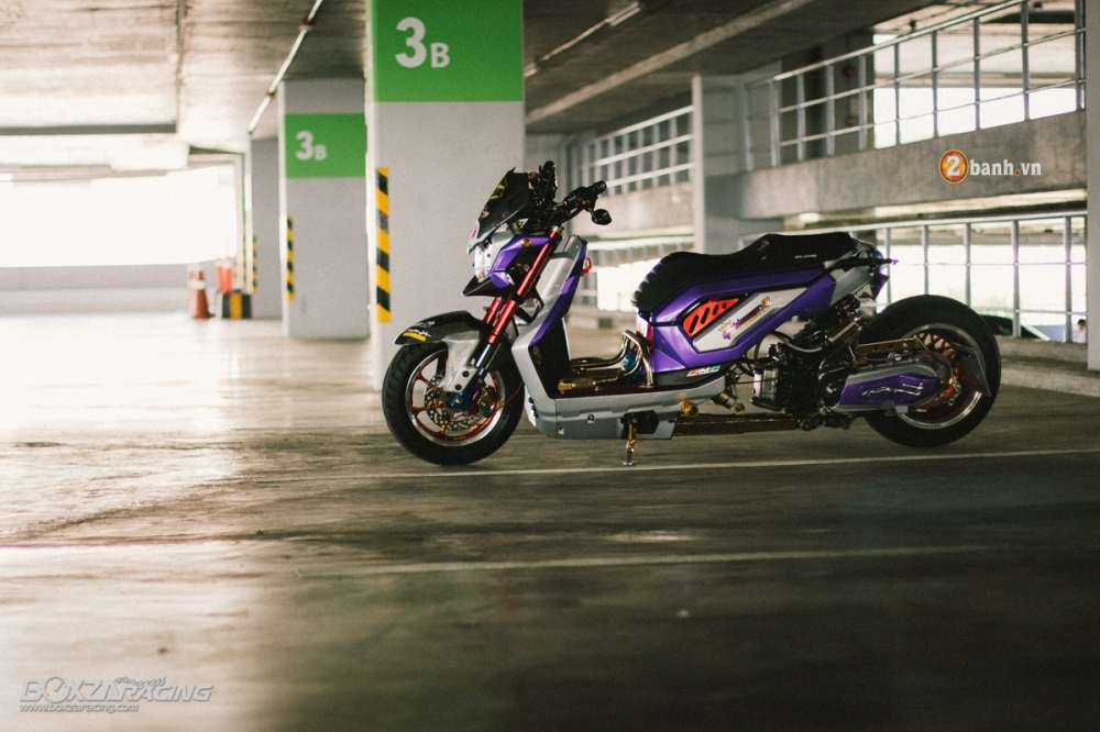 Honda ZoomerX do doc dao voi phien ban Purple Glass - 14