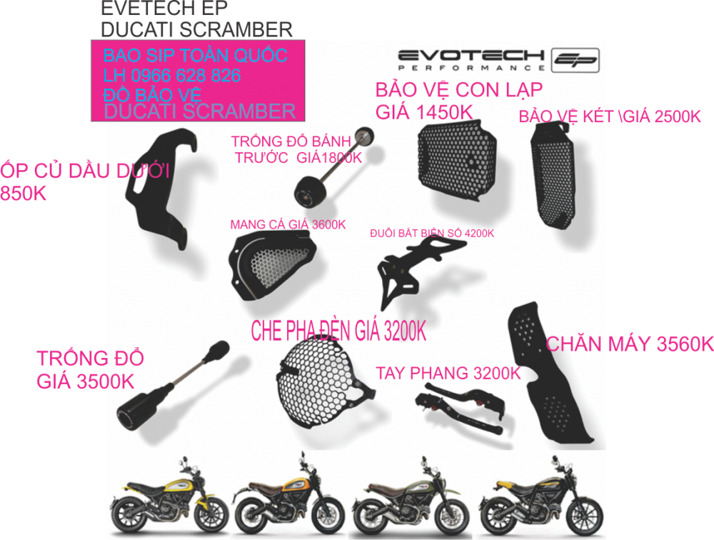 DO DO Ducati Scrambler CHINH HANG Evotech EP - 3