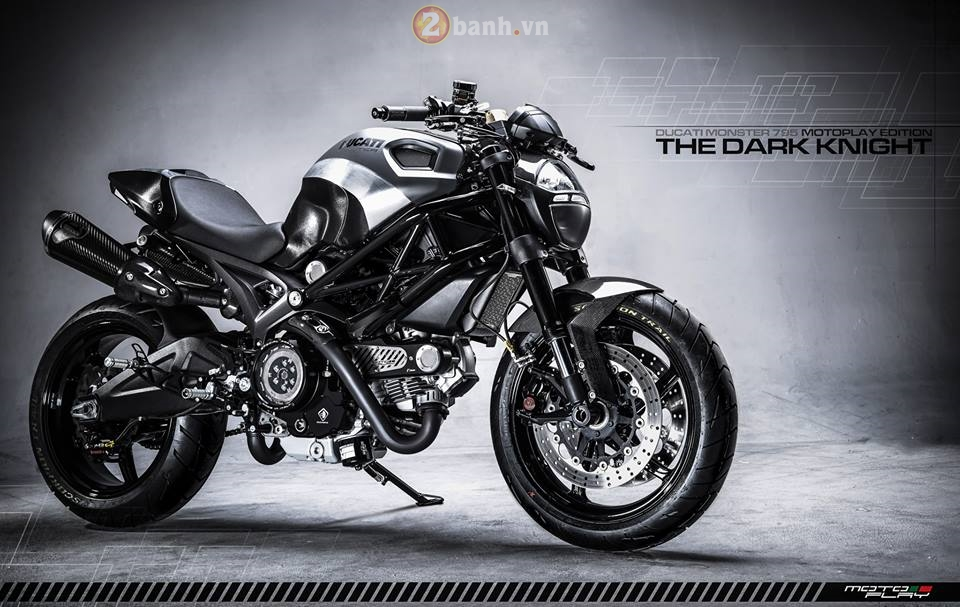 Ducati Monster 795 sieu ngau voi phien ban The Dark Knight - 3