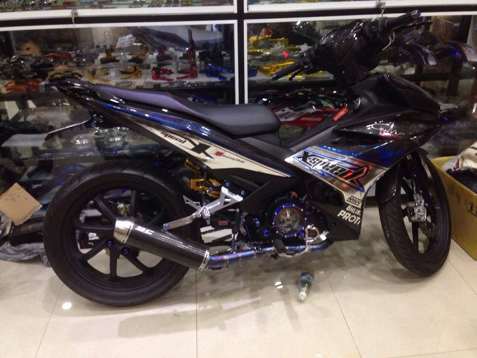 Exciter 150 do cuc ngau voi dan ao carbon fiber - 2