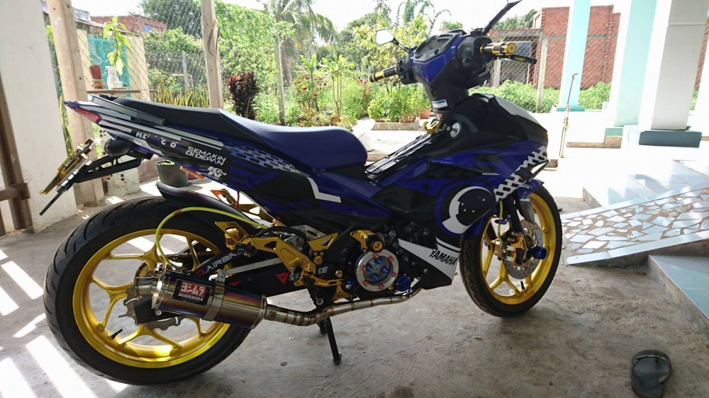 Exciter 150 do tem dau cung dan chan day noi bat - 2