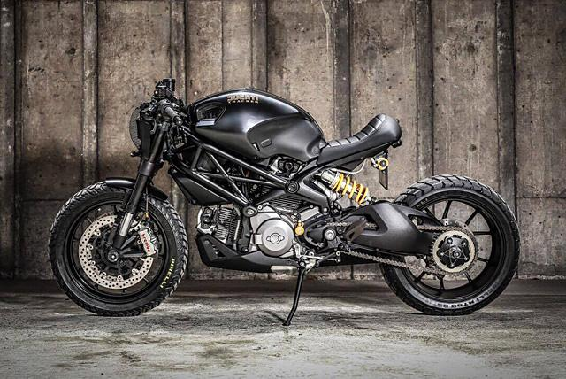 Ducati Monster 1100 du dan trong ban do Darth Mostro cua KSpeed Customs - 2