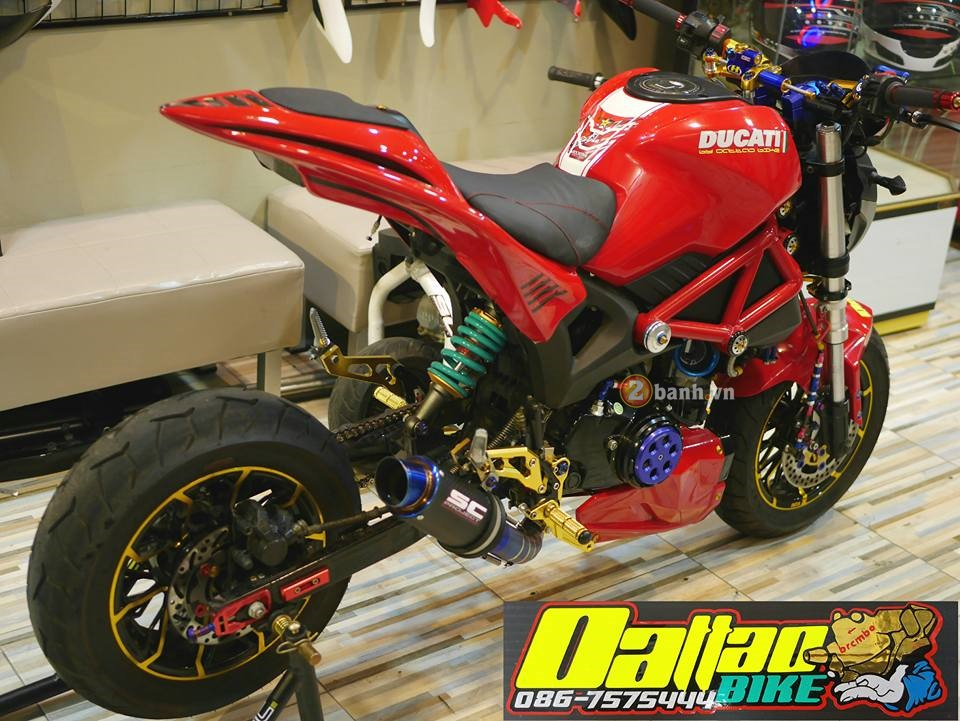 Ducati Monster do day an tuong trong phien ban minibike - 5