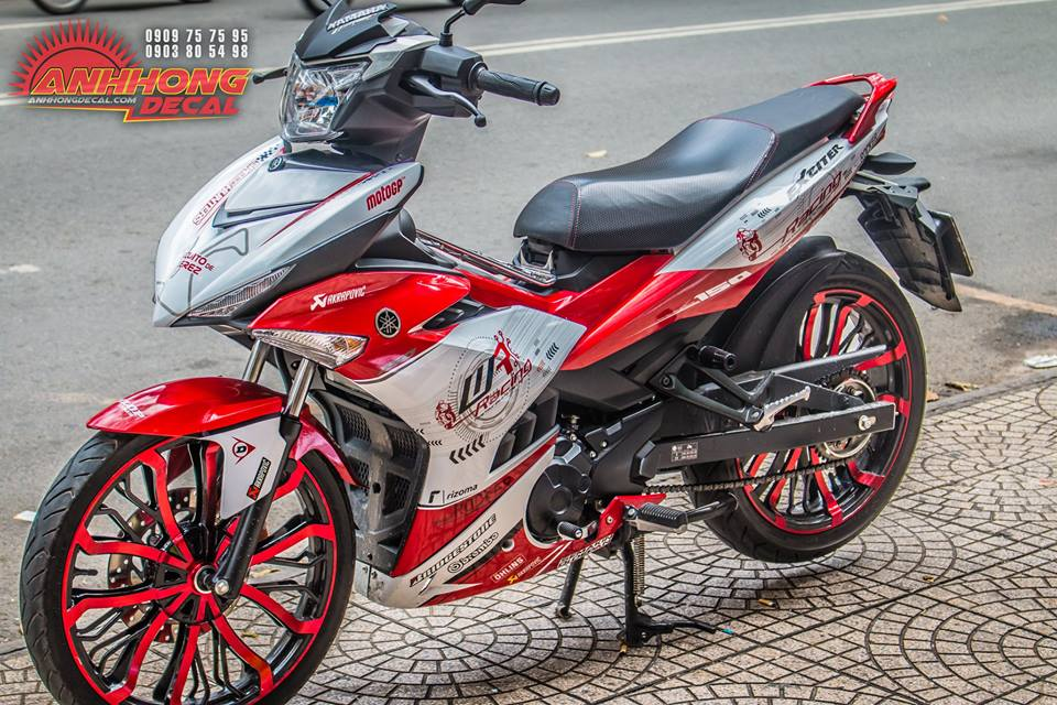 Hang doc Yamaha Exciter 150 Red Racing tu Anh Hong Decal - 2