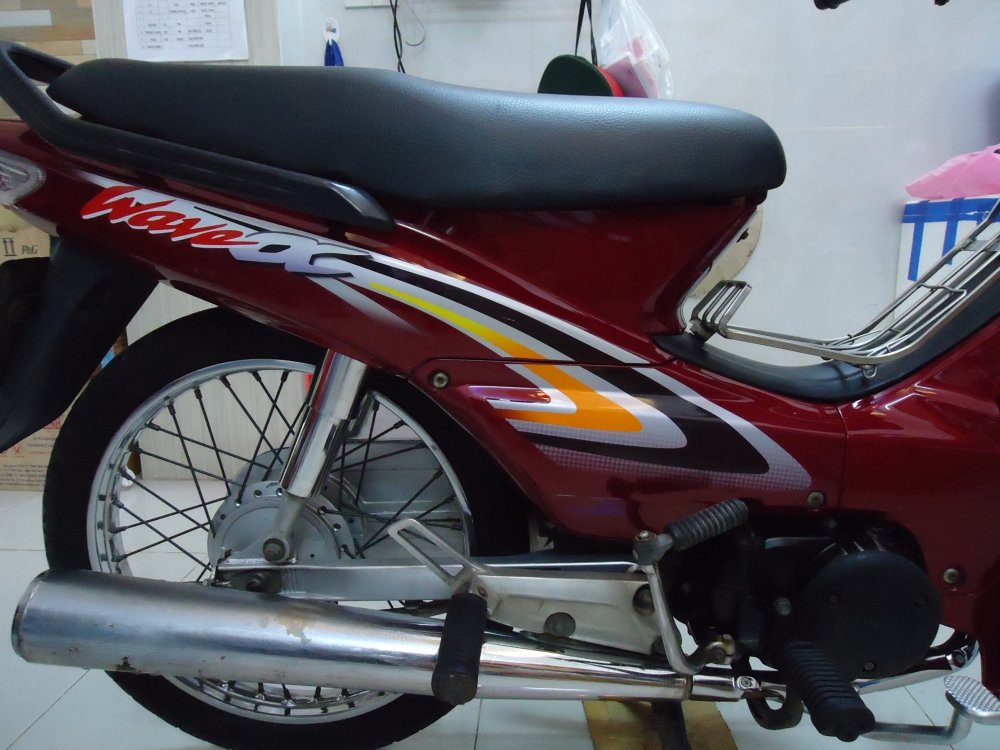 Honda Wave Alpha loc den 2002 mau Do - 5