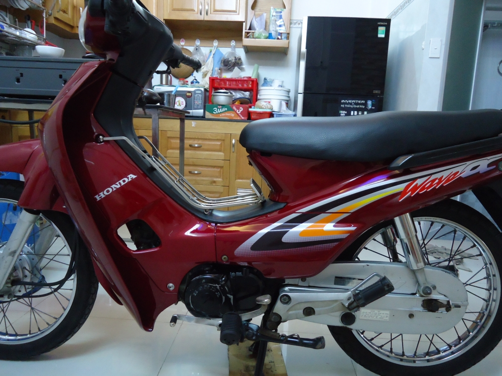 Honda Wave Alpha loc den 2002 mau Do - 8