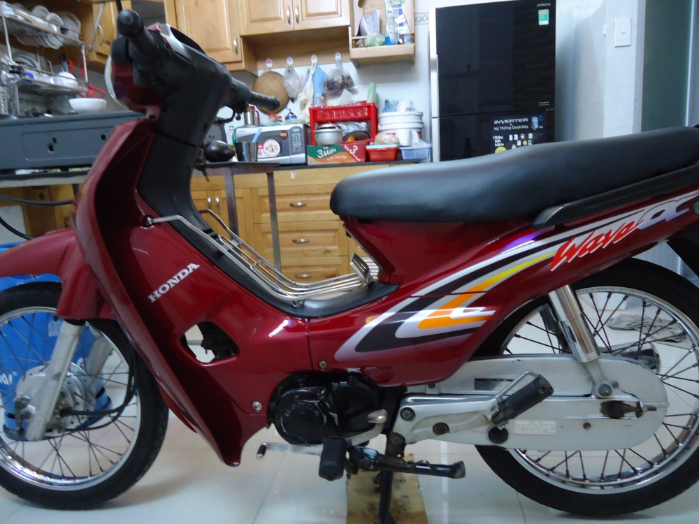Honda Wave Alpha loc den 2002 mau Do - 10