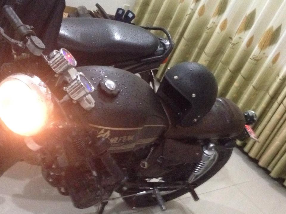 sym wolf do cafe racer chat lu giay to day du co hinh - 6