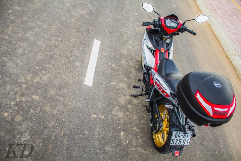 Exciter 150 do don gian cung biker mien tay - 4
