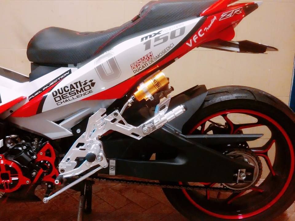 Exciter 150 do ham ho voi phong cach ducati - 4