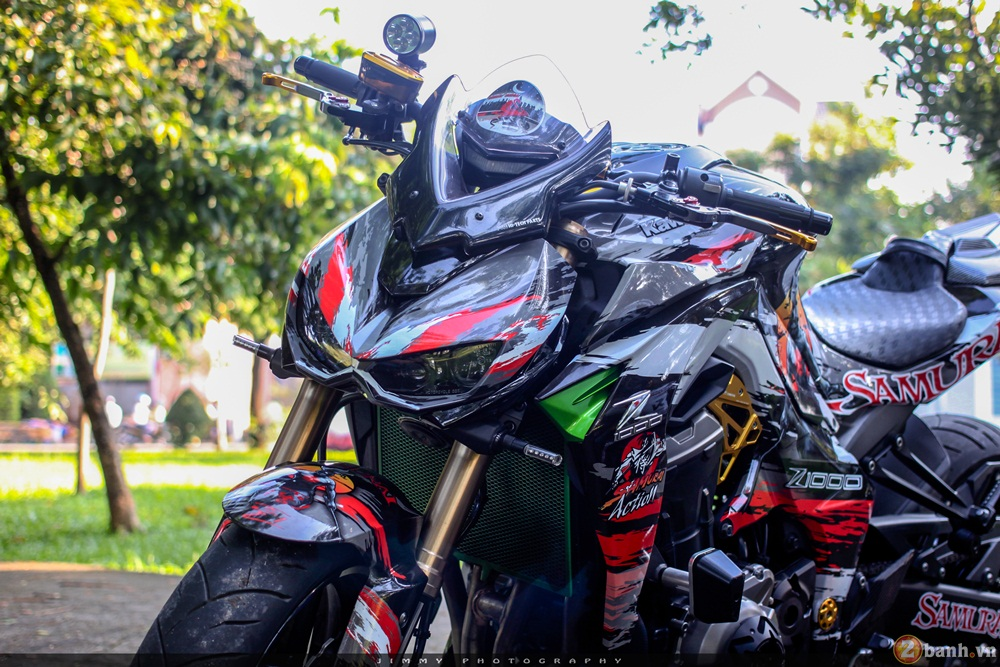 Kawasaki Z1000 than thanh voi ban do Samurai - 16